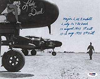 WWII P-61 Lady In The Dark Lee Kendall Signed 8x10 Photograph (with last kills of WWII inscription)