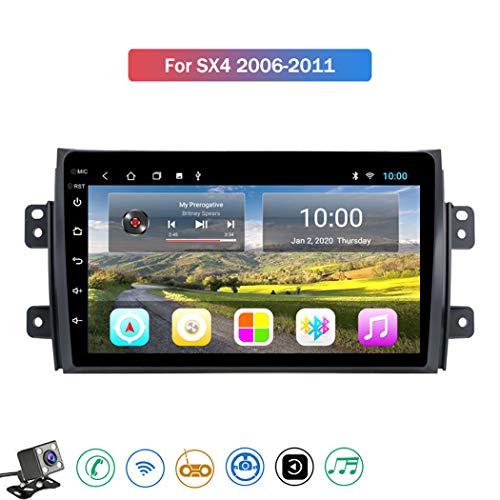 Android 8.1 Car Radio de Navegación GPS para Suzuki SX4 2006-2011 con 9 Pulgada Pantalla Táctil Support WiFi FM Am/MP5 Player/Bluetooth Steering Wheel Control