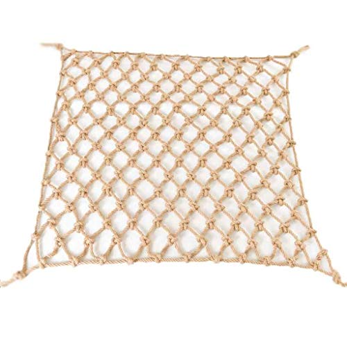 NZB Hemp Rope Netting - Camo Netting Hemp Rope Netting Safety Net Safe Staircase for Children Partition Wall Protective Tarp Outdoor Climbing Hammock Balcony