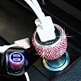 Bling Dual USB Car Charger Quick Charge 3.0 Crystal Car Decorations Fast Charging Adapter Women Cute Car Accessories for iPhone Samsung Galaxy S10/S9/S8/S7/S7 Edge/S6/Edge+ Nexus 6P/5X,LG,Nexus(Pink)