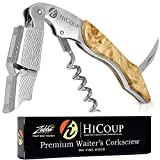 HiCoup – All-in-one Waiters Corkscrew, Bottle Opener and Foil Cutter, the Favoured Choice of Sommeliers, Waiters and Bartenders Around the World (Wood, Bai Ying)