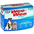 Four Paws Wee-Wee Dog Training Pads, 50-Pack