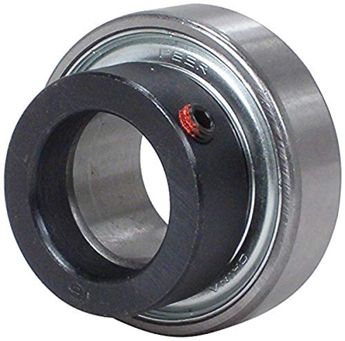 """Peer Bearing FHR205-16-NLC Insert Bearing, FHR200 Series, Narrow Inner Ring, Cylindrical outer Ring, Non-Relubricable, No Locking Collar, Single Lip Seal, 1"""" Bore, 15 mm Inner Ring, 21.5 mm Outer Ring, 1"""" (25.4 mm) ID, 2.047"""" (51.999 mm) OD, 2.047"""" (51.999 mm) Width"""