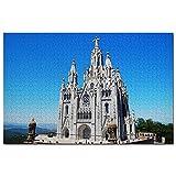 Tibidabo Moutain Barcelona Puzzle 1000 Piezas Puzle de Madera Adultos Gráfico de Juegos Viaje Souvenir Madera