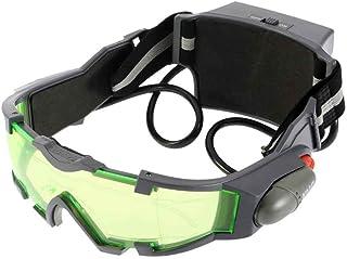 zhibeisai Lens Verde Banda Elastica Regolabile Bambini Occhiali Eyeshield Night Vision Goggles luci per Bambini LED spento...