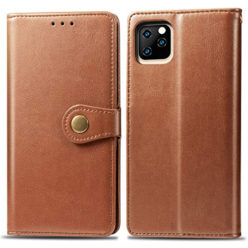 Oihxse Kompatibel mit iPhone 11 Pro Hülle PU Leder,Schutzhülle Flip Case mit Magnetverschluss und Kartenfächer,Premium Tasche Case für iPhone 11 Pro mit Standfunktion (Braun)