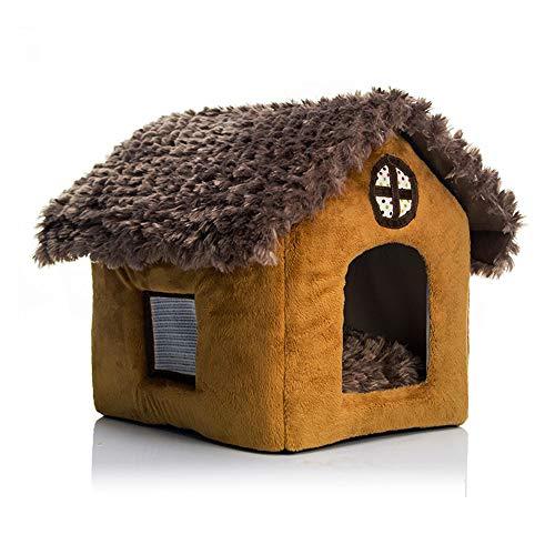 QQRH Hundehütte Indoor Hundehütte Warm Winddicht Schützen Sie Ihre Haustiere Hundehütte Schuppen Zuhause für Hunde , Katzenhaus , Fütterungshütte Hundekatzenhaus Tragbare Faltbare Welpenzwinger