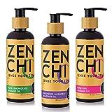ZenChi Provence Lavender, Esan Lemongrass, and Bora Ora Massage Oil Set w/Aromatherapy Essential...