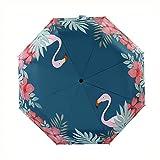 Paraguas Plegables, 8 Costillas Automático De Apertura/Cierre Plegable De Viaje Paraguas, Paraguas Ligero, De Secado Rápido Compacto Mini Paraguas con Mango Antideslizante