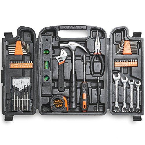 VonHaus 53pc Household Tool Set/Box/Kit for DIY - Includes Precision...