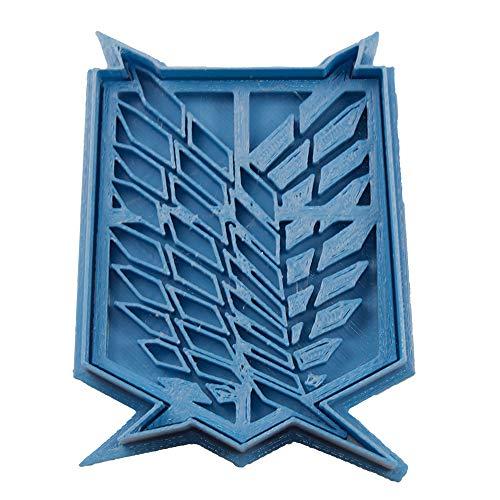 Cuticuter Alas De La Libertad Shingeki No Kyojin Cortador de Galletas, Azul, 8x7x1.5 cm