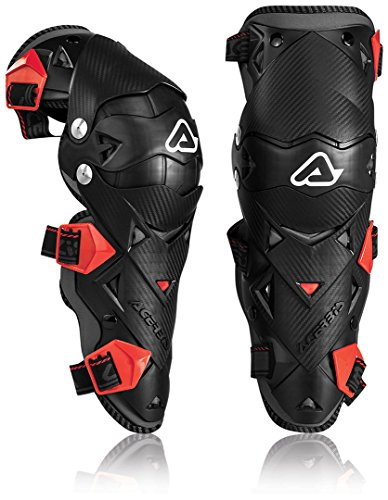 Acerbis Impact EVO Knee/Shin Guards (BLACK/RED) by Acerbis