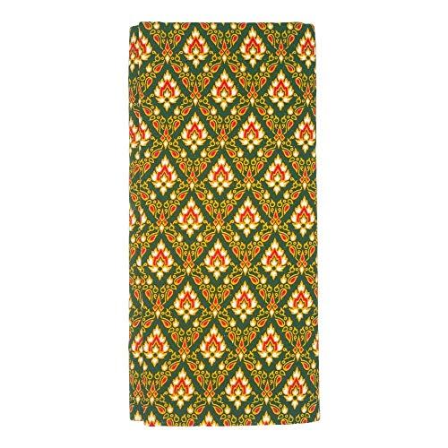 Thailändischer Stoff als Betttuch/Überwurf/Sarong - MyThaiMassage - 172cm x 106cm (grün)