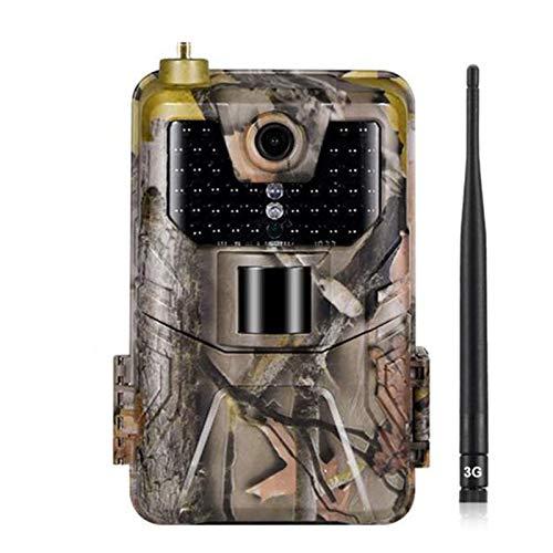 HUJUNG 3G Wildkamera Fotofalle 16MP 1080P mit Handy übertragung, Jagdkamera 3G GSM GPRS 44 Pcs Low-Glow 940nm IR-LEDs, Infrarot-Nachtsicht 20m, IP65 wasserdichte, 2,0-Zoll-Bildschirm