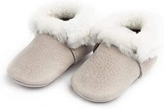 Freshly Picked - Soft Sole Leather Shearling Moccasins - Baby Girl/Boy Shoes - Infant Sizes 1-5 - Multiple Colors