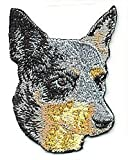 Embroidered Iron On Sew On Patch Australian Cattle Dog Breed Applique, 2.25' x 2.75'