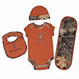 OFFICIALLY LICENSED BROWNING BABY TEXAS ORANGE 4 PIECE CAMO SET (9 MONTH)