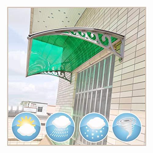 LIANGLIANG Vordach Haustür Überdachung, Schlagfestigkeit Schalldicht Design, Starke Tragfähigkeit Anti-UV, Benutzt Für Fensterbalkonhof (Color : Green, Size : 160x60cm)