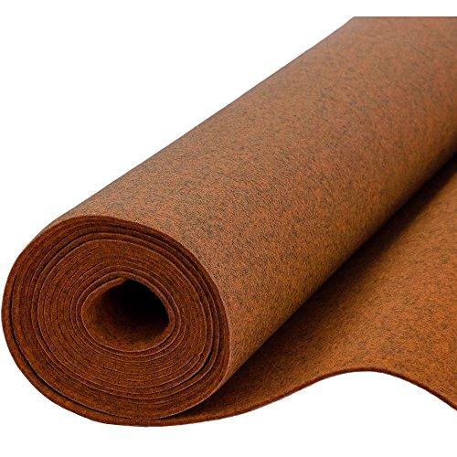 Filz, Filzstoff, Dekorationsfilz, imprägniert, Breite 100 cm, Dicke 4 mm, Meterware 0,5 lfm - melange orange