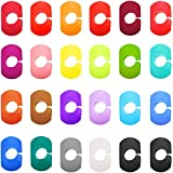 24 Pieces Wine Glass Charms Markers Drink Markers for Wine Glass Champagne Flutes Cocktails, Martinis (Silicone)