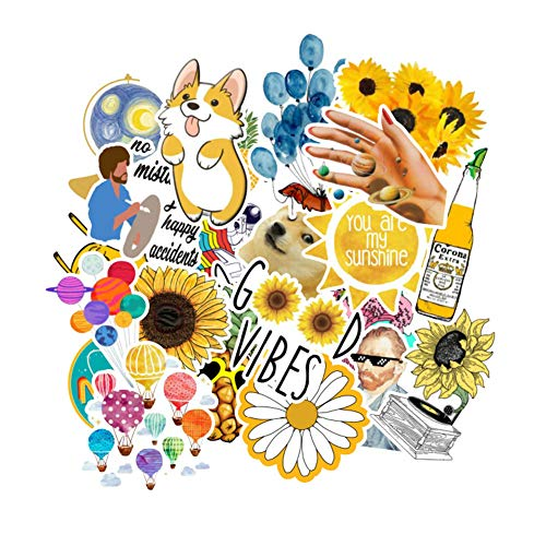 Stickers for Water Bottles, Laptop Stickers (50PCS), Cute,Waterproof,Aesthetic,Trendy Stickers for Teens,Girls Perfect for Waterbottle,Laptop,Phone,Travel Extra Durable 100% Vinyl