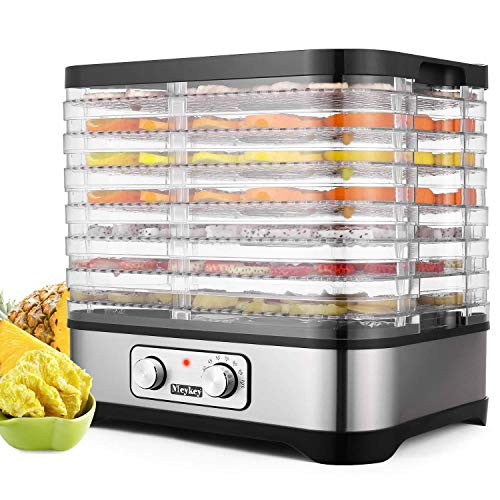 Food Dehydrator Machine 250W- Stainless Steel Electric Multi-Tier Food Preserver for Jerky Meat...