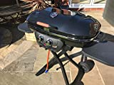 Go Cook BBQ Twin Burner Portable Barbecue Grill, Electronic Ignition By Garden Store Direct