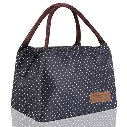 Newox buringer Lunchtasche Lunch Bag süße Kühltasche für Lunchboxen Wasserdichtes Gewebe Faltbare Picknick-Handtasche für Frauen, Erwachsene, Studenten und Kinder