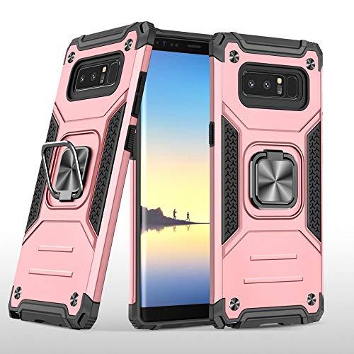 COOVY® Cover für Samsung Galaxy Note 8 SM-N950 / SM-N950F / SM-N950FD Hülle, Hülle aus PC + TPU-Silikon, extra starker Schutz, Stand Funktion + Haltering + Magnethalter kompatibel   Rosegold