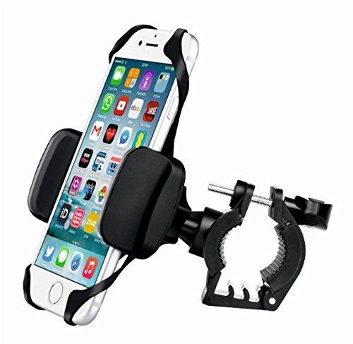 Swissten Cykel mobiltelefonhållare, universal motorcykel mobiltelefonhållare med S-Grip lämplig för iPhone, Huawei, Samsung, Xiaomi, Nokia. 360° roterbar