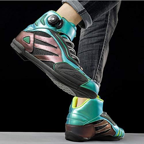 Nuevo Unisex Zapatos Zapatos De La Bici De La Motocicleta - (decoloración) Reflectante Llevar Peso Ligero Resistentes Zapatos De Bicicleta De Carretera Bicicleta De Montaña Calzado A-UK 10.0 = EU 45