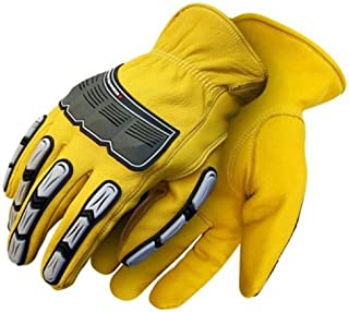 Tan Bob Dale 20-1-374-M Premium Grain Cowhide Driver Glove with Keystone Thumb Rodeo King Medium