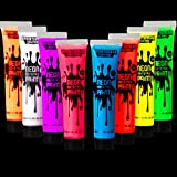 Best Glow In The Dark Body Paints - Spooktacular Creations 8 Tubes of 1 oz Black Review
