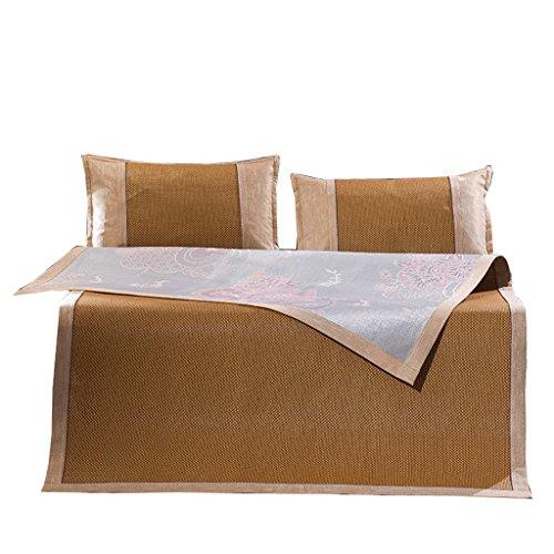 Tapis Mat 1.8M tapis de soie de glace Trois pièces Double tapis de paille de 1.5 mètres Siège de rotin d'été 1.2 Tapis pliant d'été L'assurance de la qualité n'est pas de bonne qualité Essentiels de voyage de fondu Xuan - worth having ( taille : 120*195cm )