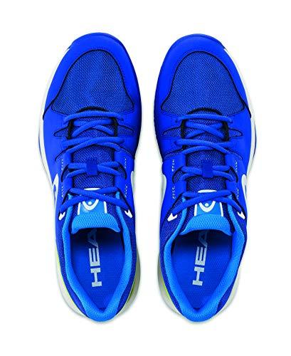 HEAD Brazer Mens, Chaussures de Tennis Mixte Adulte, Bleu (Blue/Apple Green), 44.5 EU