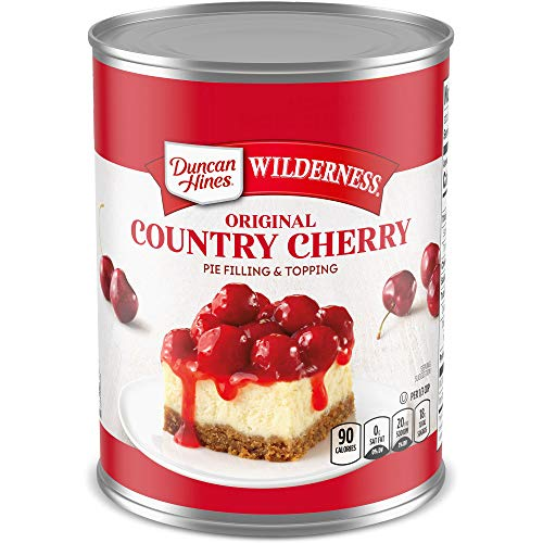 Duncan Hines Wilderness Original Pie Filling & Topping, Country Cherry, 21 Ounce