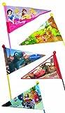 Point Sicherheitswimpel für Kinderfahrräder - mit Top-Kugel - ca. 180 cm - Cars, rot, 17010100