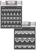 CrafTreat Ornate Border Lace Stencils for Painting on Wood,...