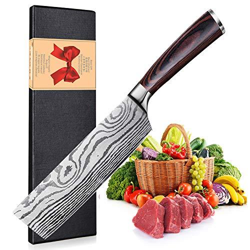 Cuchillo de Chef Chino de 17cm - Cuchillo Cocina, Nakiri Cuchillo de...