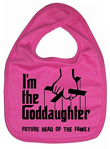 Dirty Fingers, I'm the Goddaughter, future head of the family, Bébés Bavoirs, Fuchsia