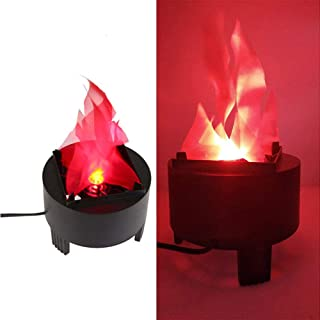 Led Fake Flame Lamp 3D Flickering Fire Flame Light Electronic Night Light Prop Simulated Flame Lamp Realistic Silk Flame Effect for Halloween Christmas Indoor Campfire Party Decoration, US Plug