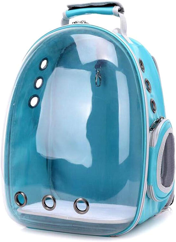 GHMHJH Pet supplies  pet bag  Pet Backpack Travel Bag Shoulder Bag Dog Bag Suitable for going out (color   bluee)