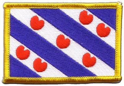 Aufnäher Patch Flagge Niederlande Friesland - 8 x 6 cm