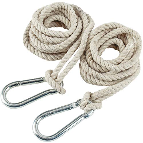 2 Tree Swing Hanging Straps Hammock Rope 13 FT Each with Heavy Duty Carabiner Hooks Kit for Camping or Tire Playground Accessories - Safer Extension Conversion / Easy Setup Indoor Outdoor