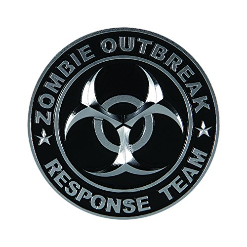 Pilot Automotive Pilot IP-3143 Zombie Response Team Emblem - Chrome/Black, 1 Pack