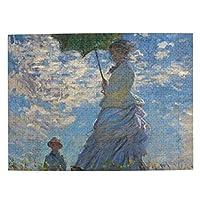 500ピース ジグソーパズル クロード・モネ 散歩 日傘の女 日傘をさす女性 1875年 パズル 木製パズル 動物 風景 絵 ピクチュアパズル Puzzle 52.2x38.5cm