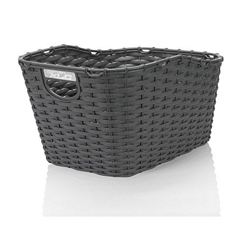 XLC Unisex– Erwachsene BA-B07 Polyrattag-Korb, anthrazit, Einheitsgröße