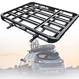 WZFANJIJ Dachgepäckträger Universal Dachkorb aus Stahl, Auto Gepäckträger bis 200kg belastbar,...