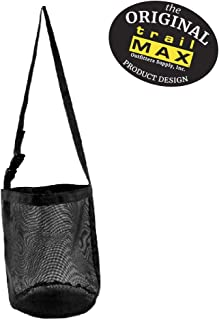 TrailMax Mesh Economy Feedbag for Horses, Features 100% Nylon Mesh Construction, an Adjustable Strap, Great for Group Feeding, Equine Travel