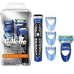 Idea Regalo - Gillette Fusion Proglide Styler Rasoio Regolabarba 3 in 1, Confezione da 1 Lametta e 3 Regolatori di Lunghezza Intercambiabili